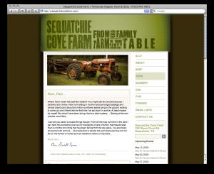 Sequatchie Cove Farm website